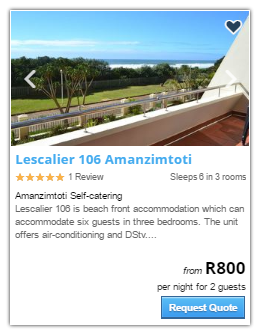 Amanzimtoti Accommodation2